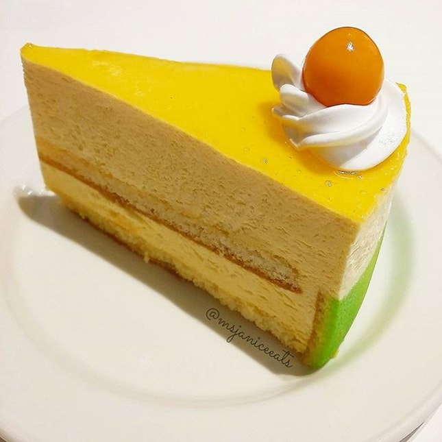 Mango Mousse Cake.  Something sweet to cheer my day up.