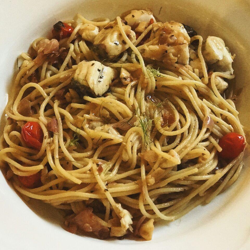 Simple Fish Pasta