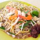 Stir-fried Hokkien Prawn Noodles ($3)