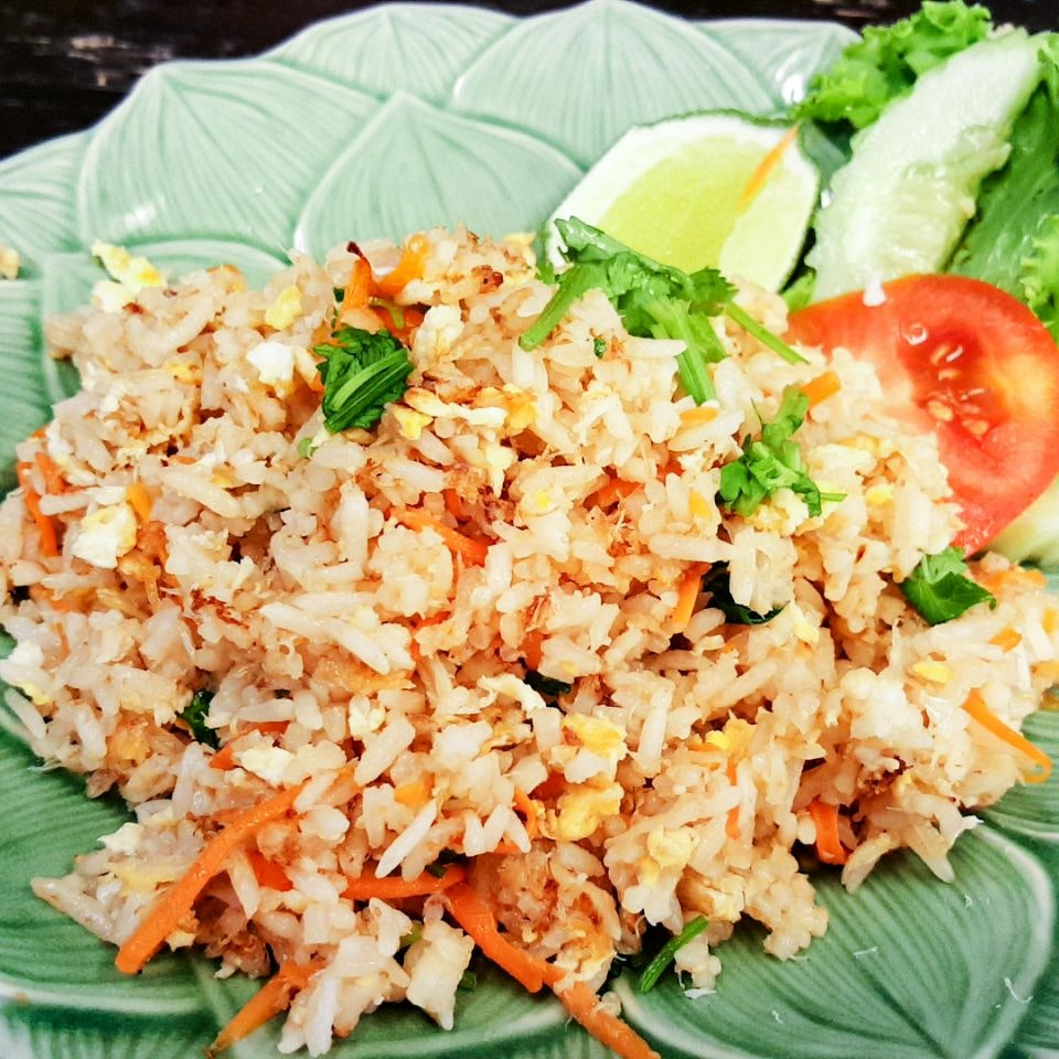 Kao Phad Pu (Fried Rice with Crab Meat, $8.90)