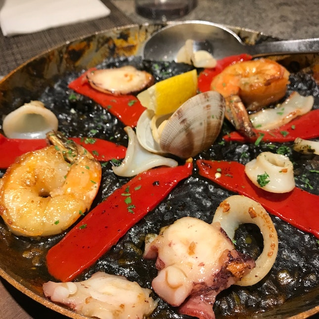 Squid Ink Paella ($18++)