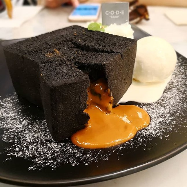 Thai Tea Lava Toast; The combination of toast, ice-cream and thai tea is perfect.