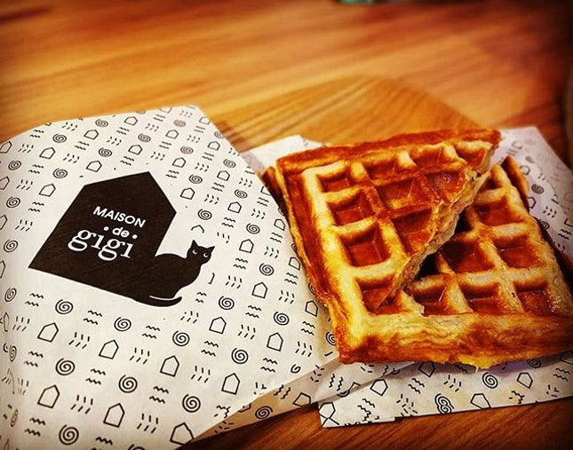 When croissant meets waffle..It was known as Croffle..