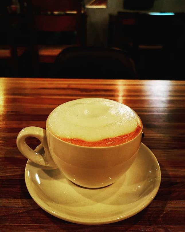 Coffee is happiness in a cup  Big white (RM10)  #bigwhite #burpplekl #burpple #cafelafayette #uptown #coffee
