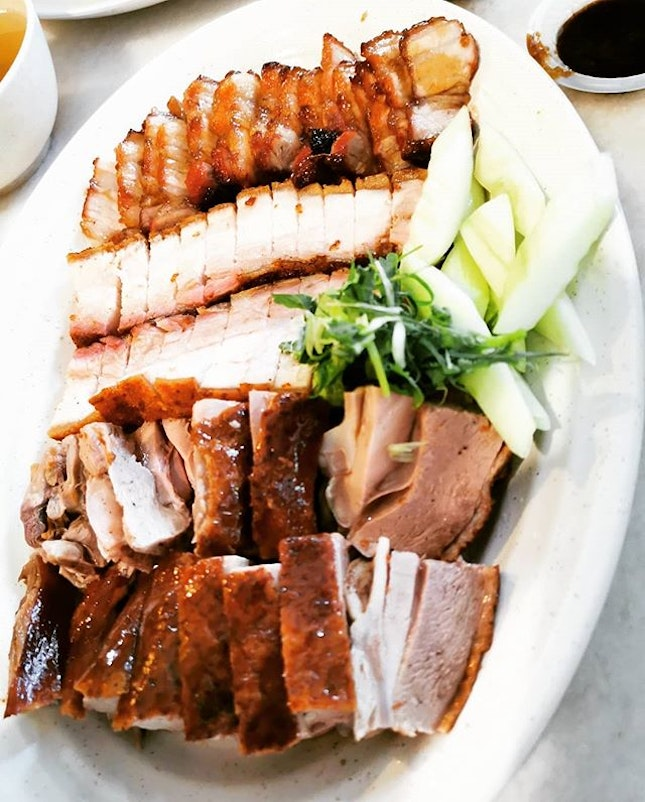 The famous four-eyed man roasted duck in Kepong.