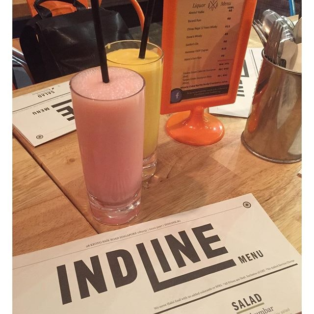 Lassi, rose and mango, at @indline.