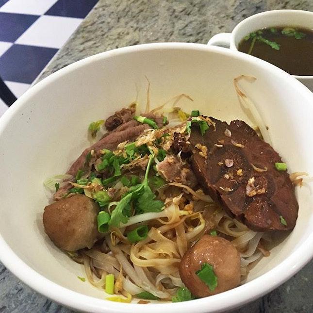 Dry beef noodles, Thai Noodle House.