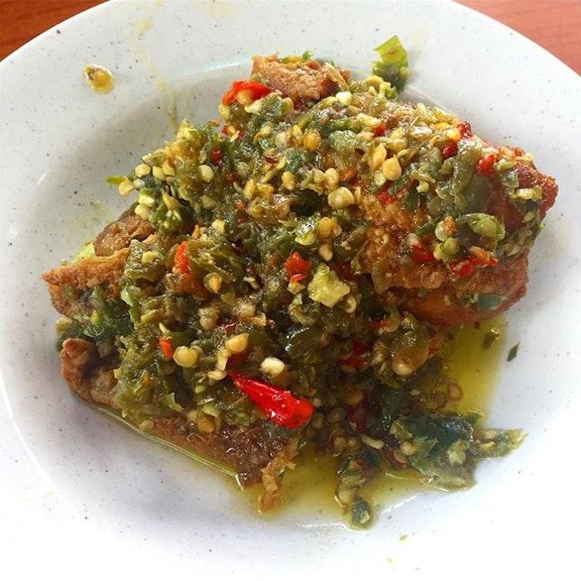 Ayam belado hijau, Rumah Makan Minang.