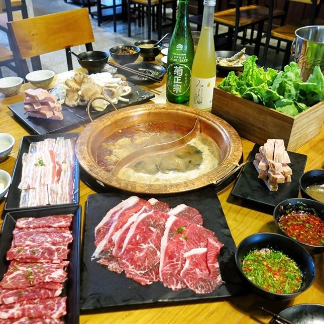 ; Pot Choices  One of my absolute favourite hotpots in town, Long Qing, now offers Sake parings!