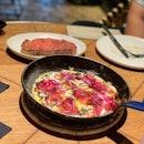 Jamon, Mozzarella & Truffle Open Omelette