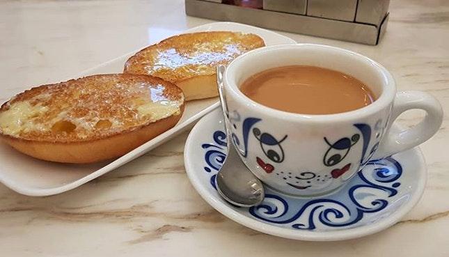 Crispy Bun w/ Sweet Condensed Milk ($4, 2 pieces) & their Milk Tea ($3.50) are the must orders!