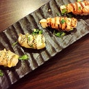 We just can't get enough of aburi sushi!
