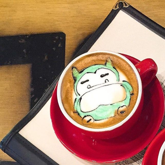 Snorlax in a cup for my dad!