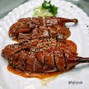 """""""Best of Both Worlds"""" Classic + Prestige Pipa Duck with fermented beancurd sauce."""