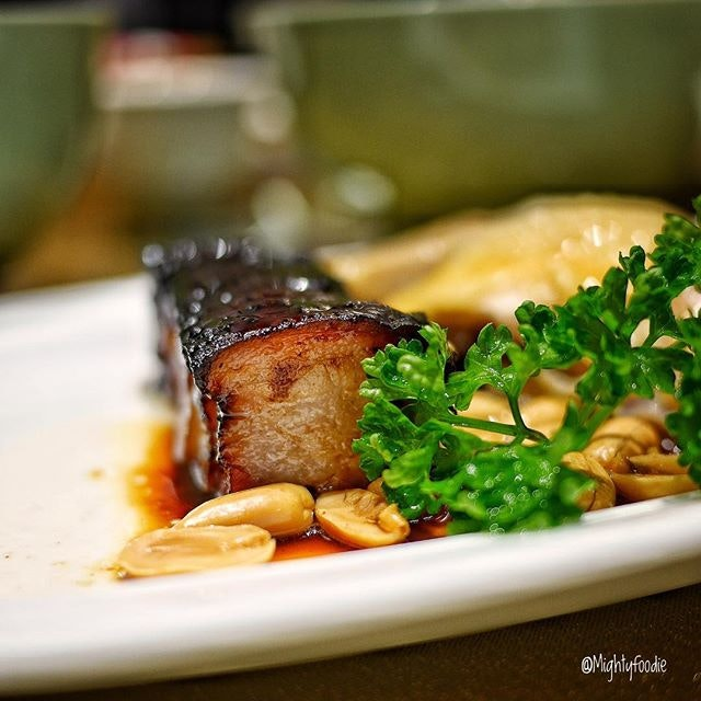 BBQ Pork Belly with Honey Sauce.