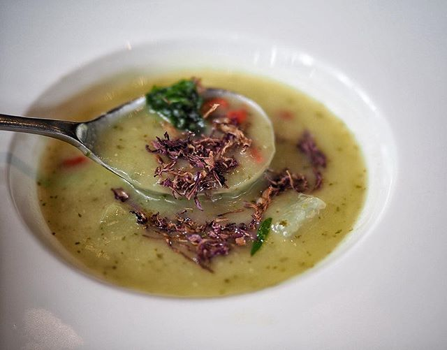 Light Veloute Hairy Gourd Soup, specially curated by Executive Sous Chef Patrick Ooi available at 10 at Claymore, Pan Pacific Orchard, Singapore @panpacificorchard Dinner Buffet from $68.00++ per pax.