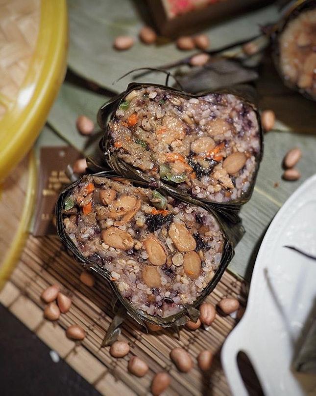 The new, wholesome Black Truffle 5-Grain Vegetarian Rice Dumpling (黑松露五谷素粽).