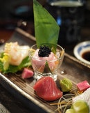 Value for money @castironsg 8-Course Omakase at $68++ (UP: $128++) that includes appetizer, sashimi, deep fried item, seafood, grilled item, sushi, soup and dessert.