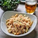 Pilsner Urguel Draft Beer 🍺 @grubsingapore with some Truffle Floss Fries.