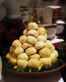 Mini Turkey Char Siew Po Lo Buns ($15.00 for 6 pieces) Po Lo Bao filled with sweet-savoury turkey meat.