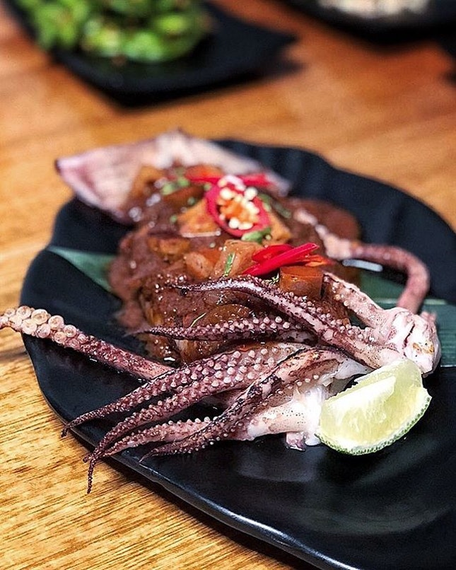 Sambal Squid with Chorizo.