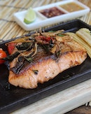 Pan-Fried Salmon Steak  Included in The Great Baan Ying Brunch menu .