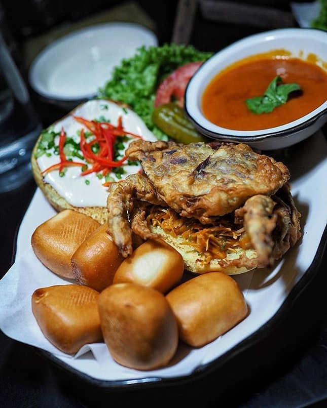 @blacktapsg, inspired by local delight, launched special creation Chili Crab Sandwich ($25.00).