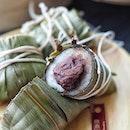 @dintaifungsg pillow-shaped, handmade Taiwanese Rice Dumpling .