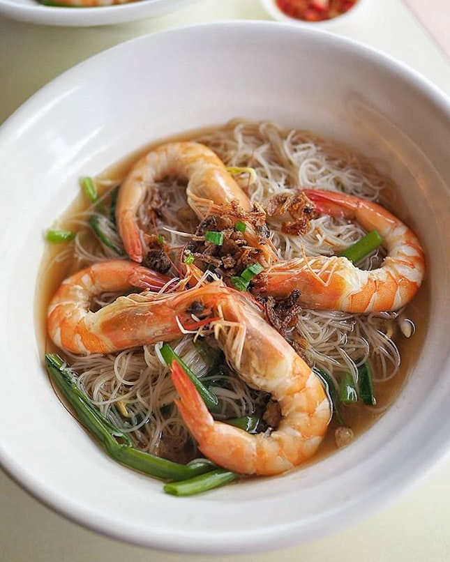 Prawn noodle soup ($6.00) from Prawn & Mee.