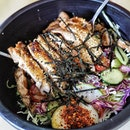 Affordable Lunch set from @madcharcoal There are several options but I go for their Grilled Chicken with Chiffonade Salad as a side ($6.90).