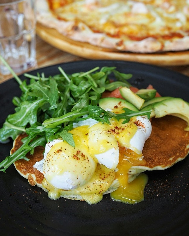 Pancakes with Poached Eggs