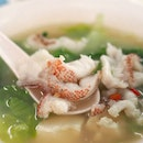 Red Grouper Slice Fish Soup ($6.00)