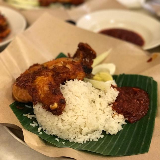 Nasi Lemak Ayam Goreng Rempah (RM9.80 + GST)