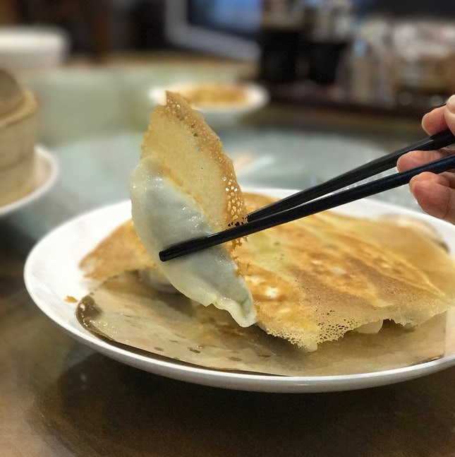 Fried Dumplings with Shrimp and Leek ($7.80/12/15)