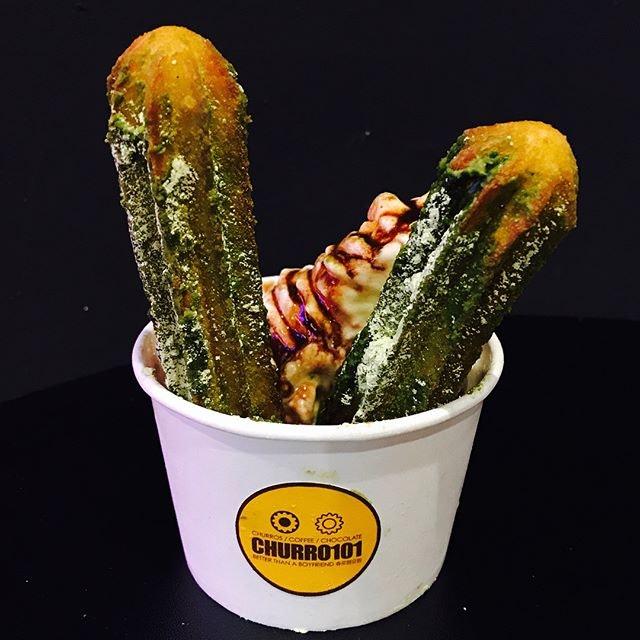 Matcha churros cup [$5.90] A seasonal item available for a limited time- MATCHA churros!