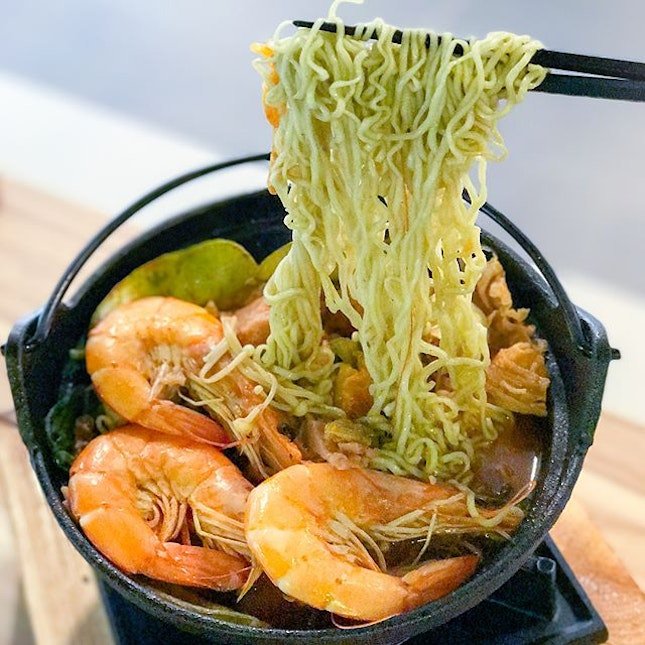 The house seafood set [$11.90] + veg noodles [+$1.50] A newly opened shop that took over the Udon noodle bar previously, the house of steamboat serves up mini hotpot available in beef, pork, lamb, seafood or vegetable set.