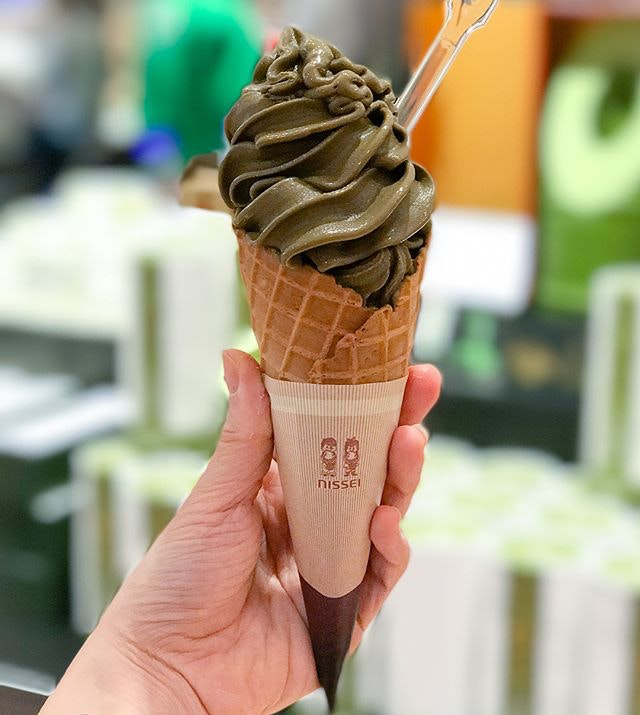 Uji houjicha nama softserve [$7] Heard that the Houjicha softserve was only available on weekends but I was pleasantly surprised and glad to find it available on a Friday!