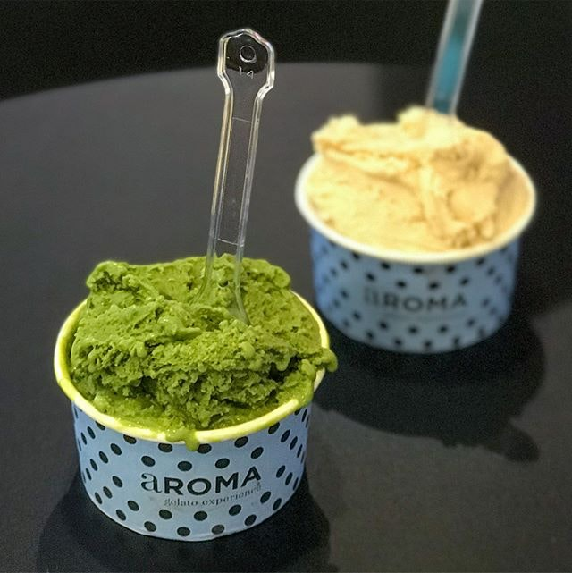Single flavour cup [$1 : UP $3.90] As part of the opening promotion at the 2nd outlet in Plaza Singapura, @aromagelato.sg is offering their smallest single flavour cup size at $1 each from 3-5pm, 20-22 October for the first 100 customers / day!