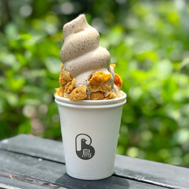 Black beauty tea softserve [$7]  Miss the cookie butter softserve?
