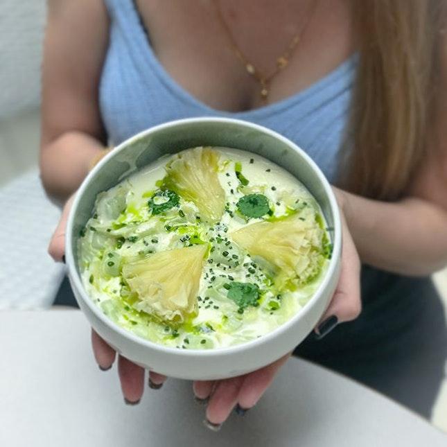 Ravioles de Royans [$18++] French dumpling pasta filled with Tete de Moine cheese // .