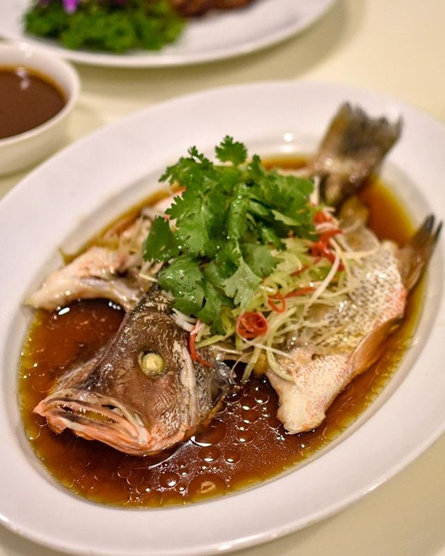 CNY Prosperity Set Menu [$798+/8 pax, additional pax at $88]  Continuing from the previous post, the festive set menu also comprises of: 1️⃣: Steamed Red Snapper in Hong Kong style  Fish is always a must-have during CNY, because 年年有余(鱼)!