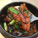 • Claypot Fried Pig Livers $12 • 😋😋😋 Ho jiak!!