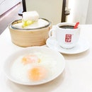 • Brekkie Situation: Kaya Butter Steamed Bun Set with 02 Softboiled Eggs and a Kopi O •