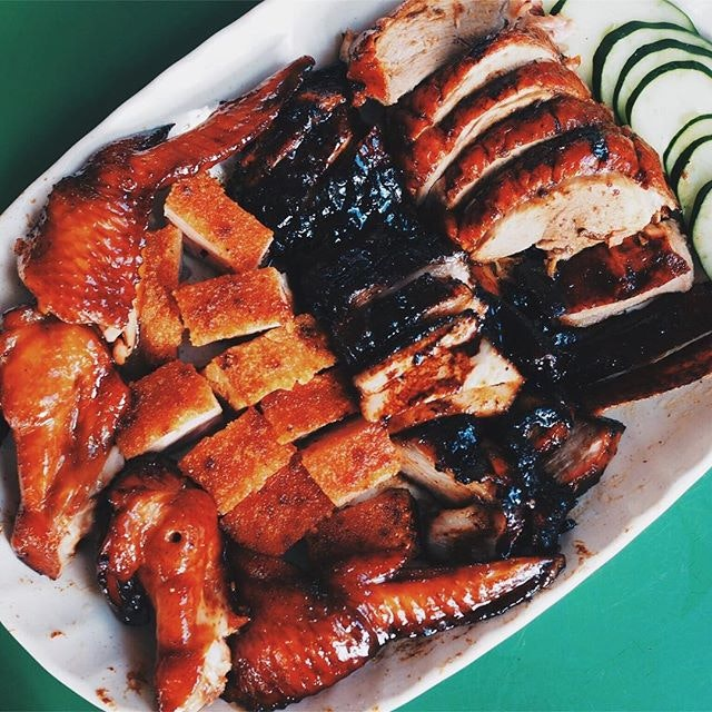 There's something magical at Maxwell Hawker Centre and its not the usual suspects of chicken rice and fish soup but beautiful smoky roast meats.