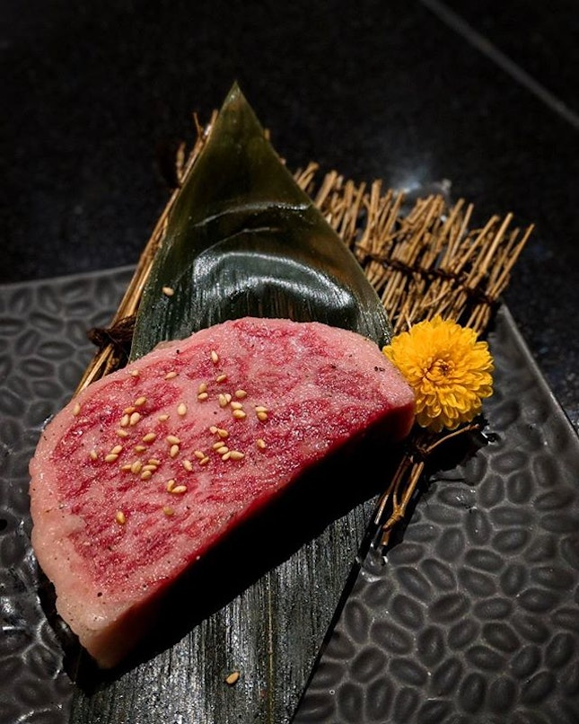 A4 Wagyu as part of @yen_yakiniku's new 10 course Omakase menu.