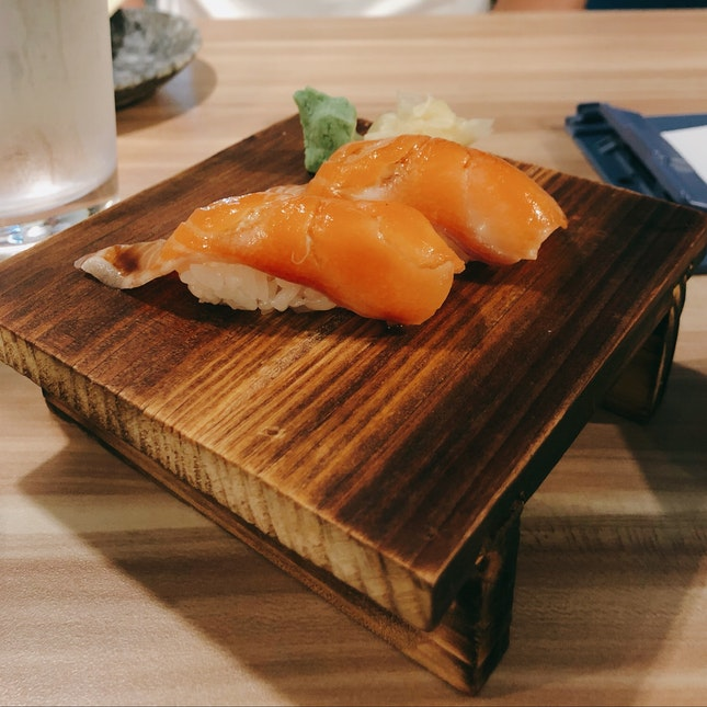 $1 per Salmon Sushi From Mon-Thurs