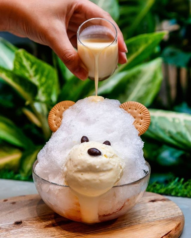 Can you bear to eat this Hokkaido BIEI Jersey Milk Shaved Ice ($9.80)?