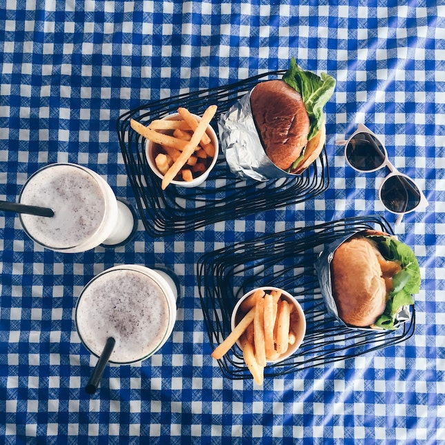 Great burgers and shakes at a hipster coffeeshop!