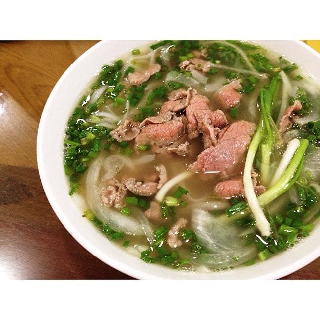 First dinner- Tái pho
