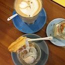 Lavender Latte ($6), Waffles In A Jar ($7.90), Durian Jarcake ($6.10)